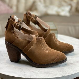 Geewawa Coby Western Suede Brown Bootie Size 6